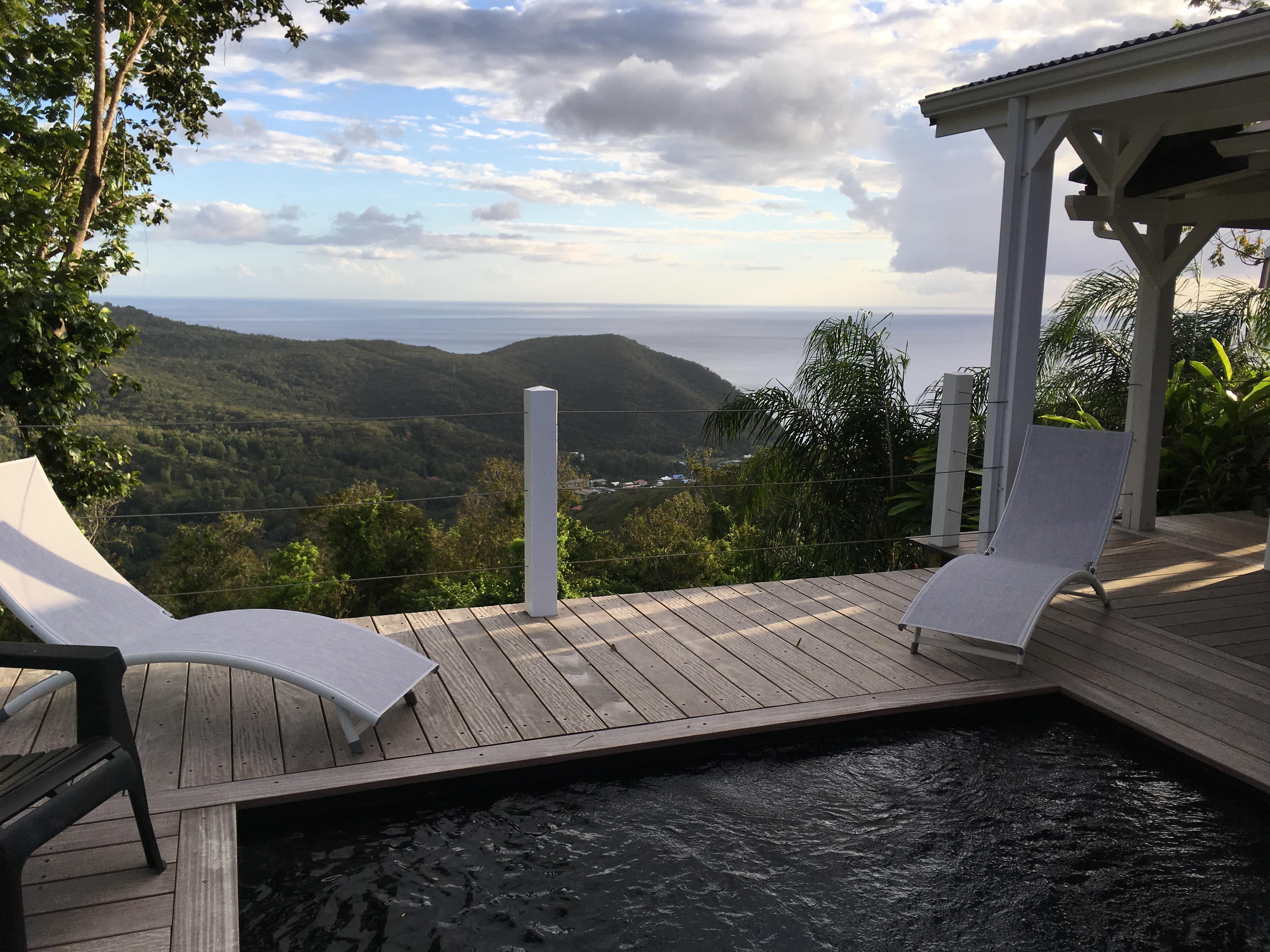 Location de gite basse terre avec piscine la belle - Bungalow guadeloupe piscine privee ...