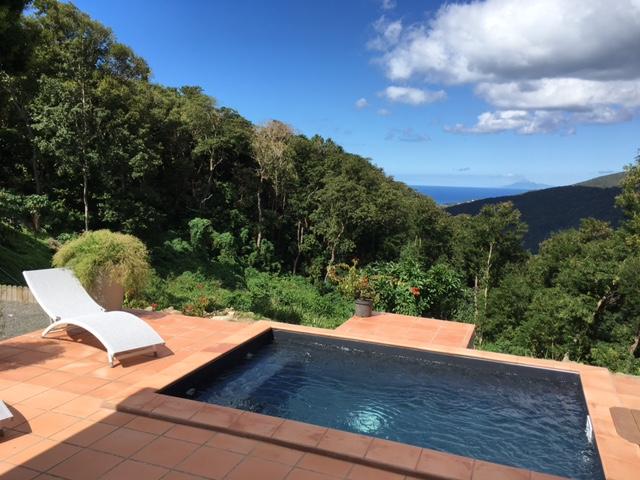 Location de gite avec piscine priv e en guadeloupe la for Hotel avec piscine foret noire